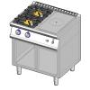 Gasvuur 2 brander+doorkookplaat Gico